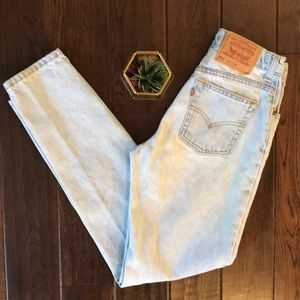 Levi's red tag 550 relax taper vintage light wash